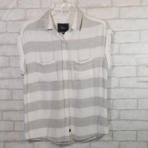 Rails stripes button down blouse size S